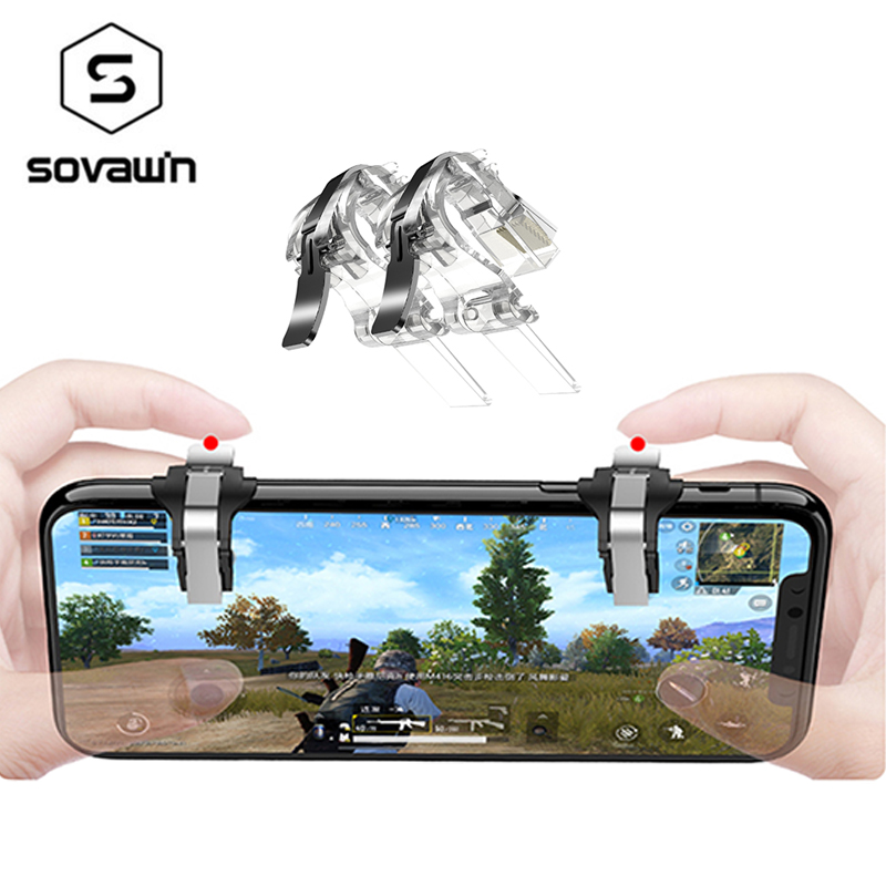 Mobile Joystick L1 R1 Trigger Fire Button Controller Gamepad Aim Key Shooter for iPhone Android PUGB Gamer Control Key