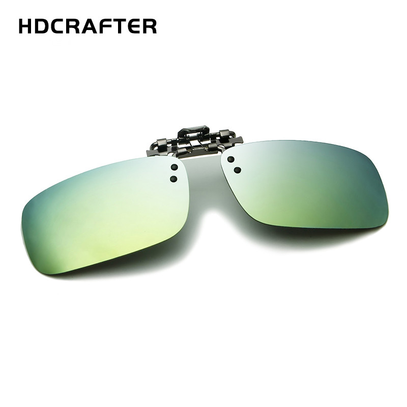 Polarized Sunglasses Clip On Driving Glasses Day Night Vision Lens Unisex