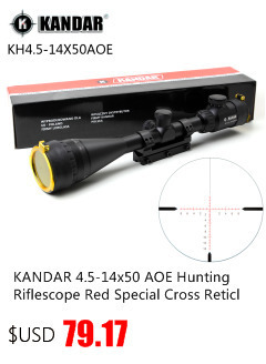 Kandar 6-24x50 aome mil-ponto retículo riflescope travamento