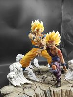 1/6 Dragon Ball Z Dragon Son Goku & Gohan Statue Resin Model GK Collectible