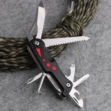سكين سويسري عالي الجودة 185 جرام قابل للطي سكين تخييم خارجي الجيش أداة متعددة Ferramentas