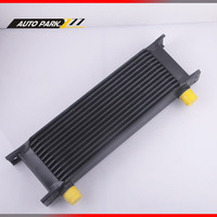 13 ROW AN10 Universal Aluminum Engine Tranmission Racing Oil Cooler Black