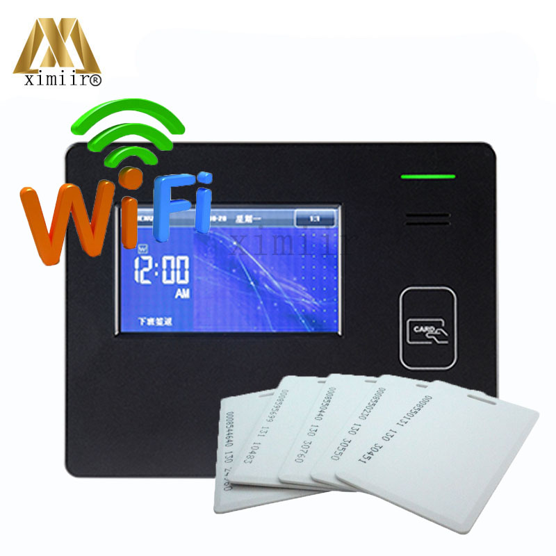 ZK CU600 Linux System TCP/IP Proximity Smart Card Reader 125KHZ RFID Card Time Attendance Biometric Time Recording With WIFI