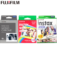 10 100 Films Fujifilm Instax Wide Instant White Edge Monochrome films For Fuji Camera 100 200 210 300 500AF Lomography photo
