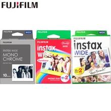 10 100 סרטי Fujifilm Instax רחב מיידי לבן קצה מונוכרום סרטי עבור פוג י מצלמה 100 200 210 300 500AF לומוגרפיה תמונה