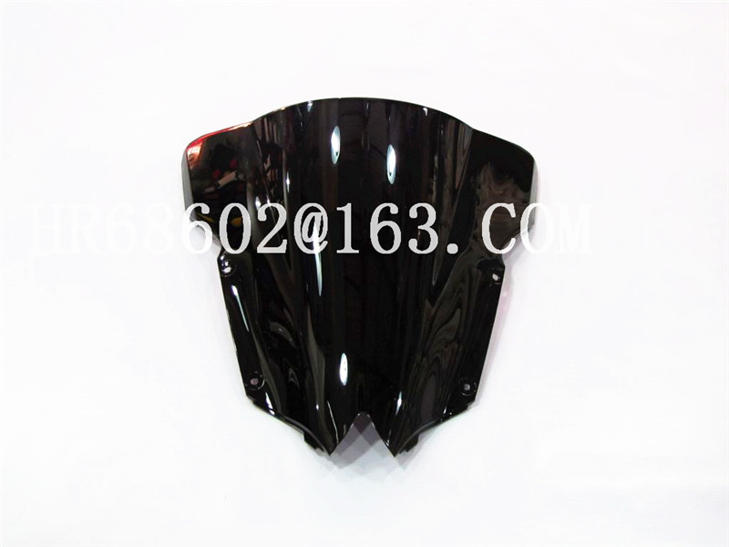 For Yamaha YZF600 R6 2008 2009 2010 2012 2013 2014 2015 2016 207 Black Windshield WindScreen Double Bubble YZF 600 Yzf R6