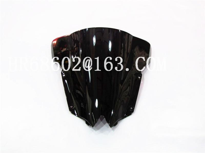 For Yamaha YZF600 R6 2008 2009 2010 2012 2013 2014 2015 2016 207 Black Windshield WindScreen Double Bubble YZF 600 Yzf R6
