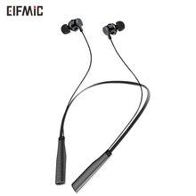 Wholesale ELFMIC Wireless Sports Earbud Neckband Bluetooth Earphones headset Magnetic headphone for apple xiaomi samsung huawei