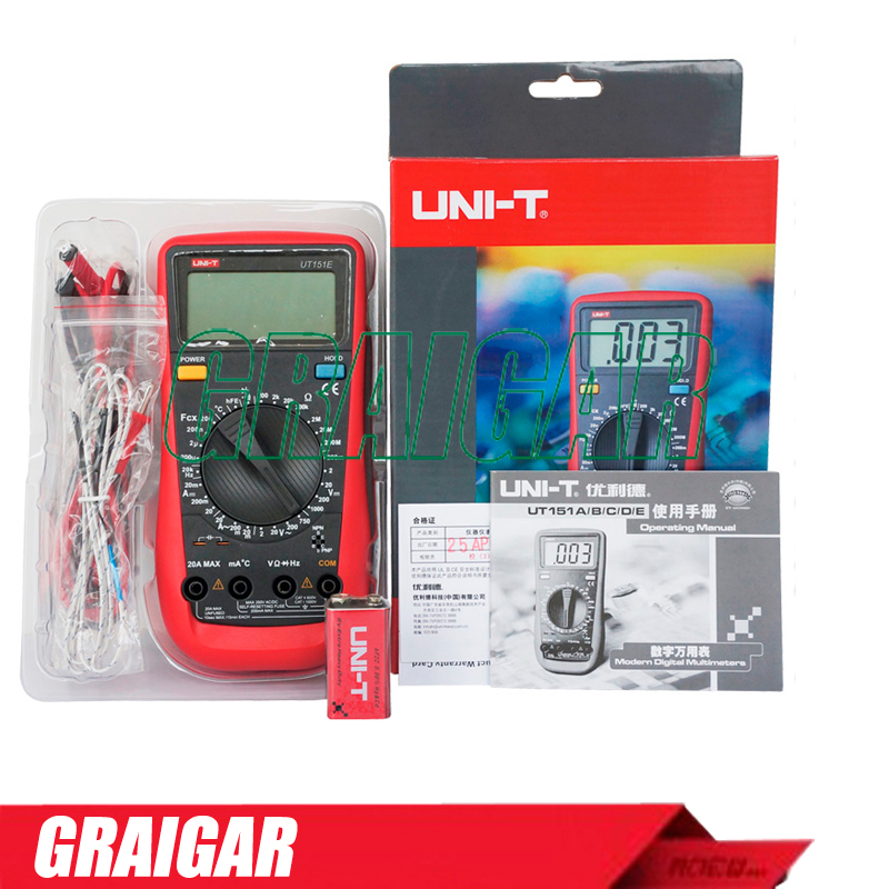 Modern Digital Multimeters UNI-T UT151E Handheld Multi purpose meter voltage tester Overload Protection High Preciasion