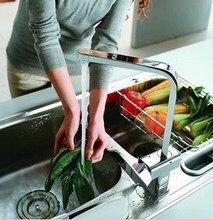 Латунь горячей и холодной кухня кран площадь меди на одно отверстие вращения смеситель