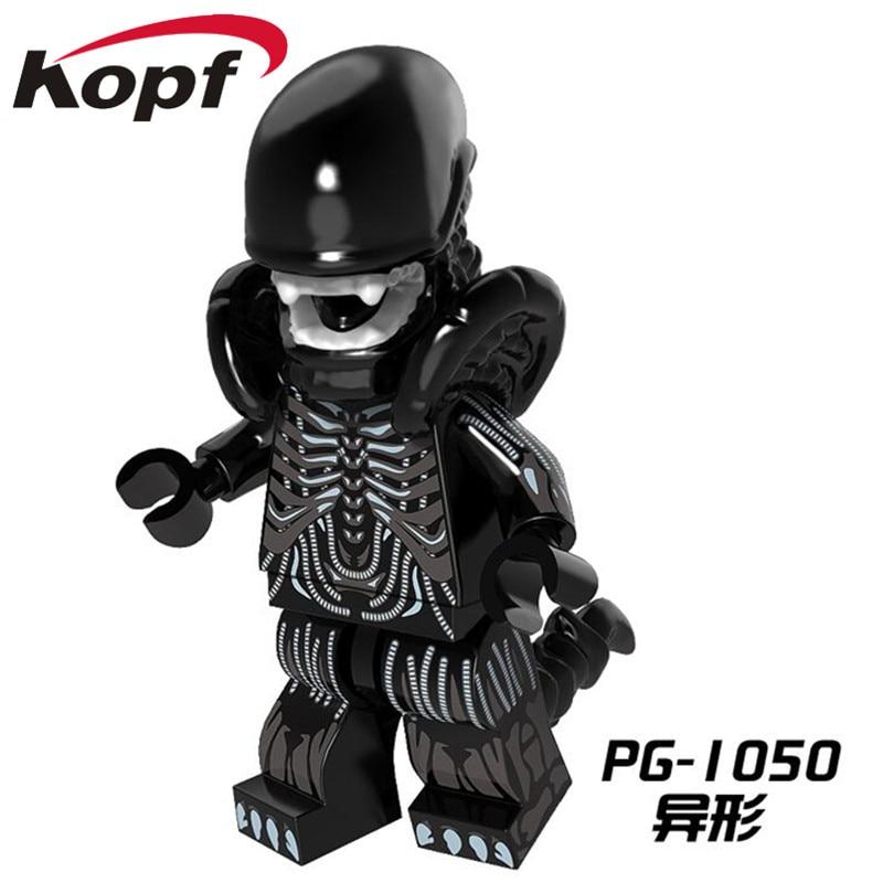 Single Sale Super Heroes Halloween Cyclops Omino Snake Undead Zombie One-Eyed Alien Building Blocks Toys for children PG1050 heroes