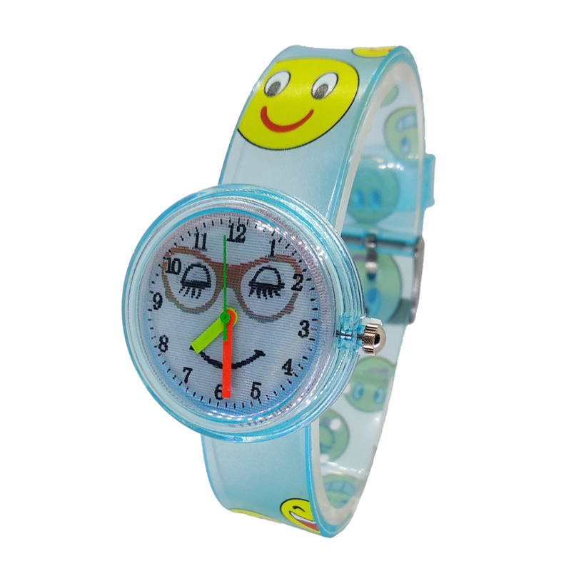 Cheap Smiley Face Dial Design Children Girls Watches Quartz Jelly Clock Kids Baby Boys Students Wristwatches Relogio Kol Saati F