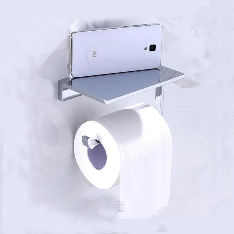 Mobile Holder Copper Toilet Paper Holder and Dispenser Roller Bathroom Accessories Chrome For Five Star Hotel Bathroom Lavato copper bathroom series european modern copper bathroom hardware toilet paper holder cup holder soap dish robe hook fm 3600