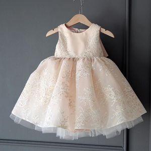 Image 2 - Childrens Wedding & party dress Flower Girl Dresses princess Girls O neck sleeveless print big bow Ball Gown Tutu Dress