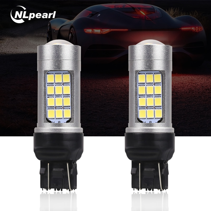 2x T20 LED PURE WHITE 6500K 7440 7443 DRL DAYTIME RUNNING LIGHT BULBS