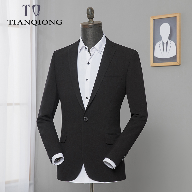 2019 Man Clothing Spring Suit Blazer Men Fashion Slim Fit Male Suits Casual Black Color Masculinemens Blazer Jacket Size M 3XL-in Blazers from Men's Clothing    1