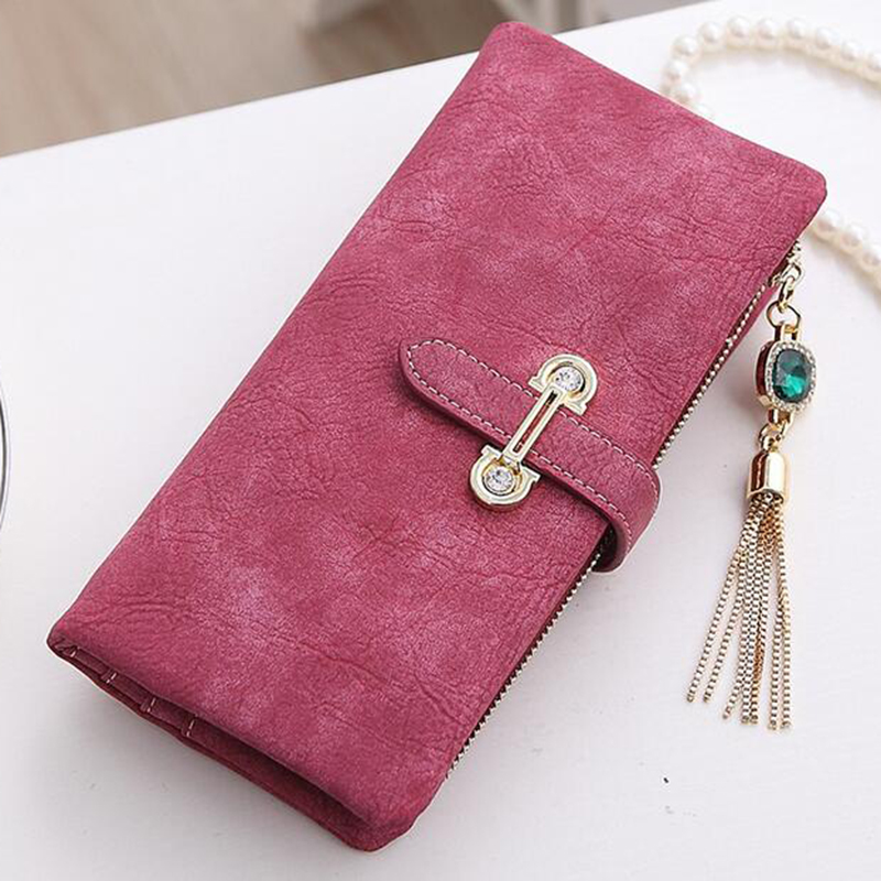 Wallet Women Long Solid Purse women Luxury Brand Leather Coin Purse Leather Zipper Fashion Womens Wallets And Purses Short 2017