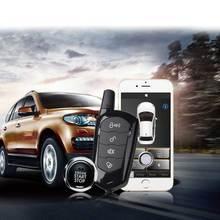SmartPhone Control PKE Car Alarm System Kit Smart Passive Auto Central Locking Door Keyless Push Remote Button MP900A