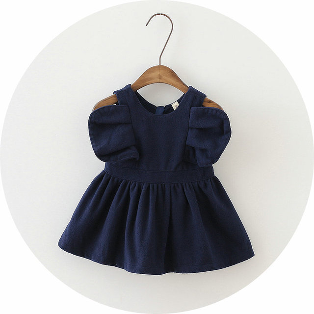 Autumn and spring of color cuffs with wings woolen pretty cute  pinafore 2016 children for cute  baby girls clothes