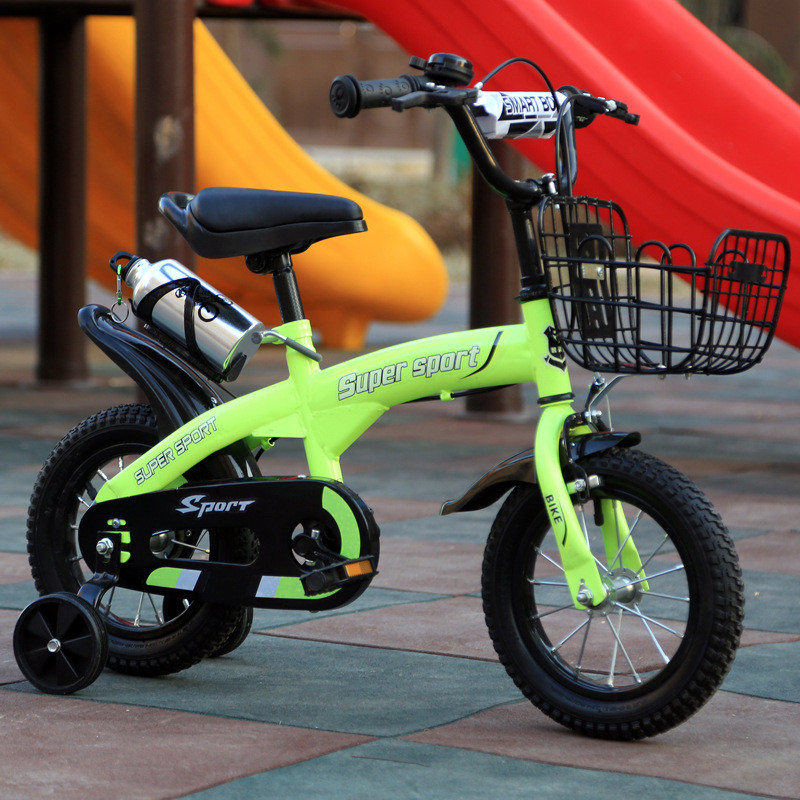 HTB1SIO9a8Cw3KVjSZFlq6AJkFXaS 2-4 years old boys and girls 14 inch bicycle multicolor variety style kids gifts steel material lightweight bicycle toy