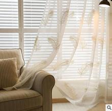 100% Polyester/Cotton Modern yarn living room /bedroom /balcony windows screens high-grade gauze products