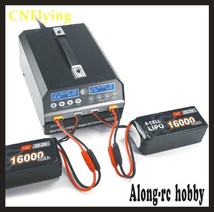 SKYRC PC1080 двухканальный Зарядное устройство 1080 Вт 20A <font><b>6s</b></font> lipo-литиевая Батарея Зарядное устройство для защиты растений БПЛА Drone PC 1080