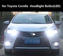 car LED Headlight Kit Turbo Fan for Toyota Corolla  04-18 models 9005 HB3 h11 6000K Light Lamp Bulbs 12V 90w