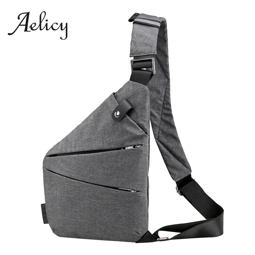 Aelicy Slim Messenger Chest Pack Men Sling Shoulder Crossbody Bag Male Anti Theft Diagonal Multipurpose Ultra-thin DaypackAelicy Slim Messenger Chest Pack Men Sling Shoulder Crossbody Bag Male Anti Theft Diagonal Multipurpose Ultra-thin Daypack