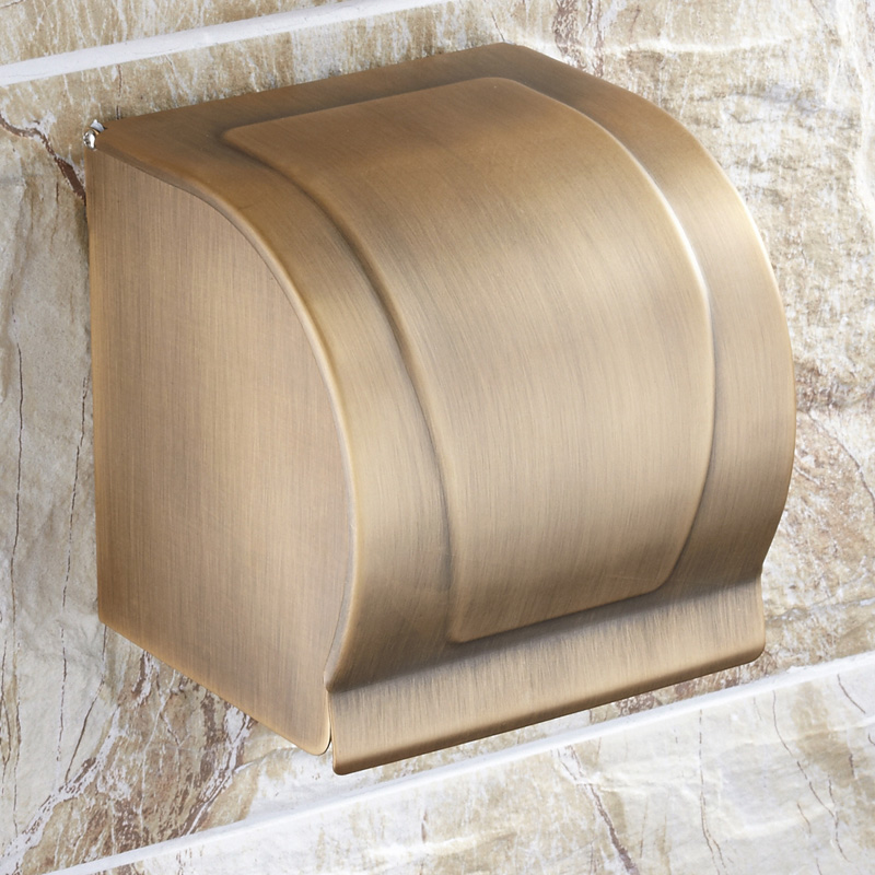 ФОТО Bohndorf antique copper tissue box paper holder toilet paper box wall health carton shelf