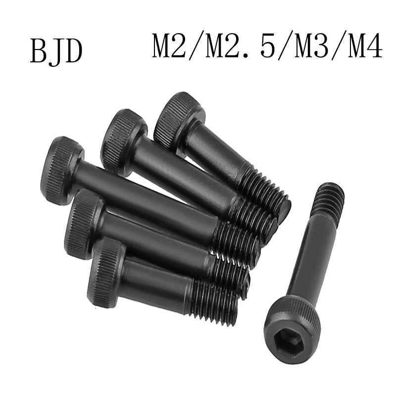 M2 M2.5 M3 M4 Model bushing screw Carbon steel screw half thread black 12.9 grade high strength semi thread hexagon socket