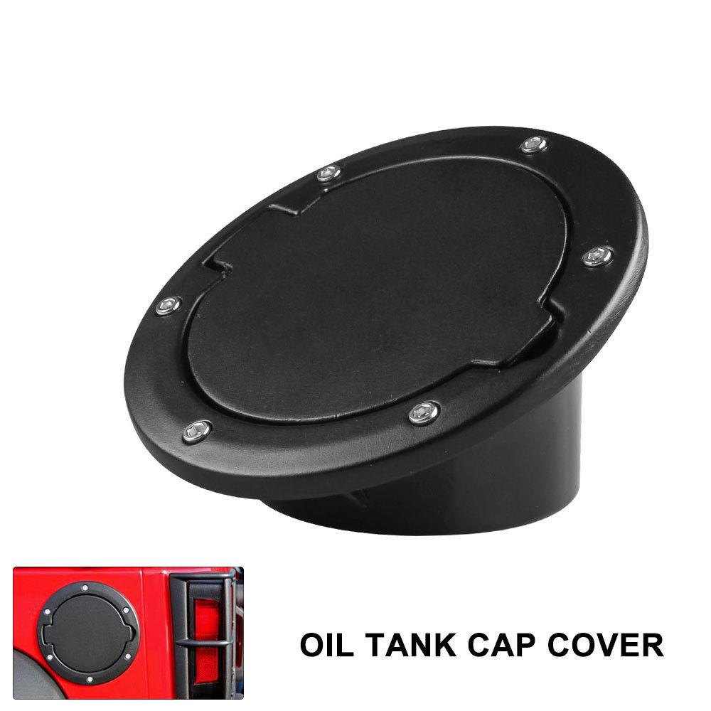 For 07-16 Jeep Wrangler JK Black Fuel Filler Door Cover Gas Tank Cap 2//4 Door