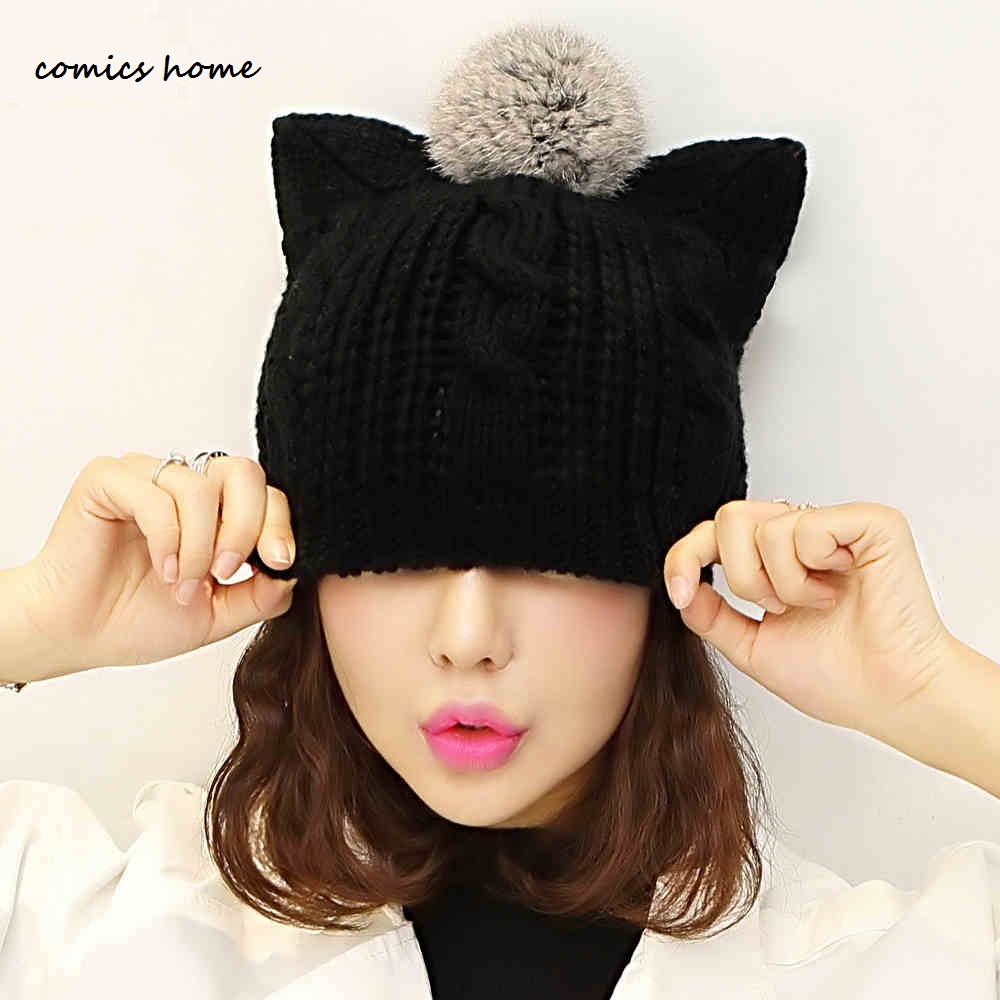 mink and fox fur ball cap pom poms winter hat for women girl 's hat knitted beanies cap brand new thick female cap women s winter hat new real mink fur pom fluffy ball hat cap fox fur ball mink fur fashion russian cap hat for women dhy17 20