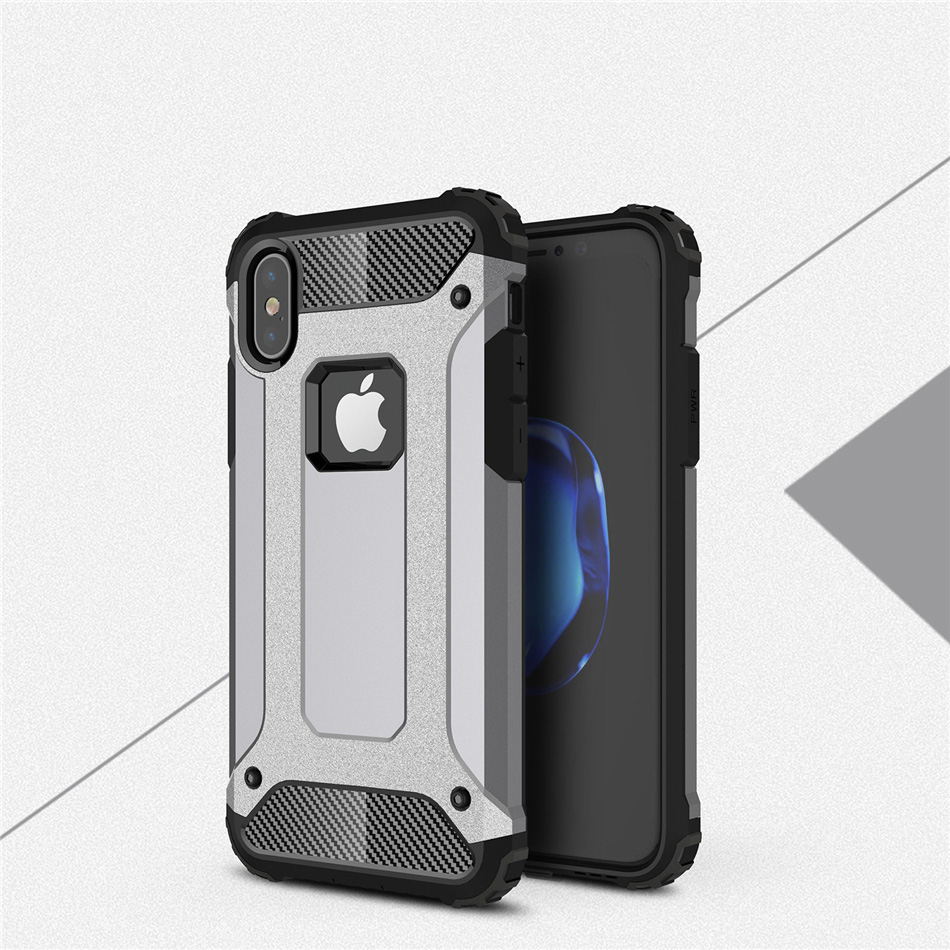 For iPhone X XR Xs Max Case Textured Grip Slim Hybrid Dual