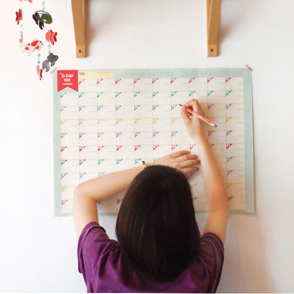 3PCS Creative paper Countdown 100 days of work and study schedule/novelty notebook/hard target notes/wall sticker ...