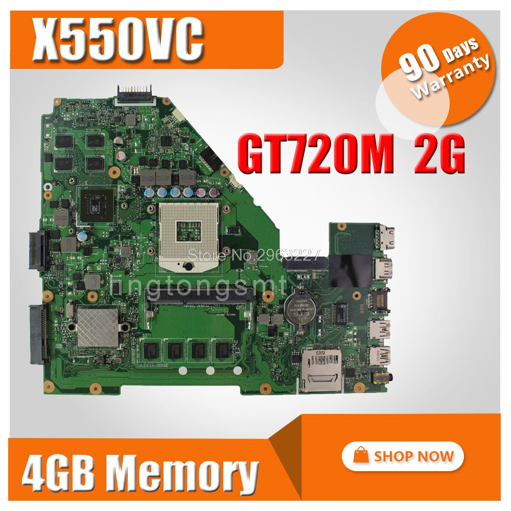 X550VC Motherboard GT720 2G RAM 4g Memory For ASUS R510V X550V X550VC Laptop motherboard X550VC Mainboard X550VC Motherboard for asus x450cc laptop motherboard i3 3217u 2g video memory x450cc motherboard 4g ram rev2 3 100% tested