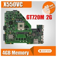 X550VC Motherboard GT720 2G RAM 4g Memory For ASUS R510V X550V X550VC Laptop motherboard X550VC Mainboard X550VC Motherboard