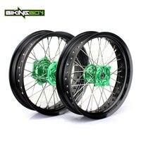 BIKINGBOY Front Rear 3.5 4.25 17 Supermoto Wheel Rim Hub for KAWASAKI KX 125 250 06 13 KX250F KX450F KXF 250 KX F 450 06 18 17