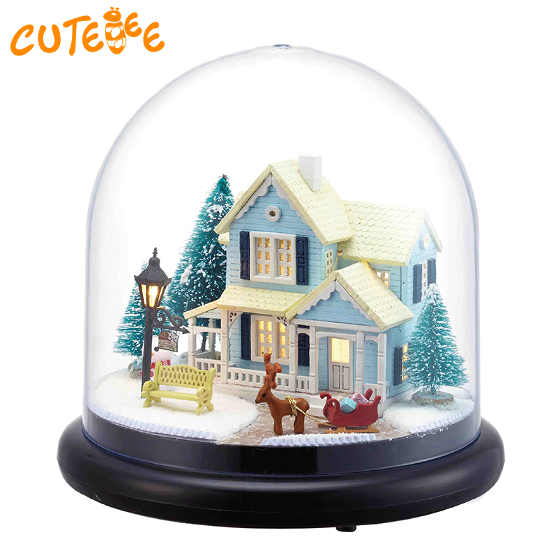 CUTEBEE Doll House Miniature DIY Dollhouse With Furnitures Wooden House Christmas House Toys For Children Birthday Gift B025