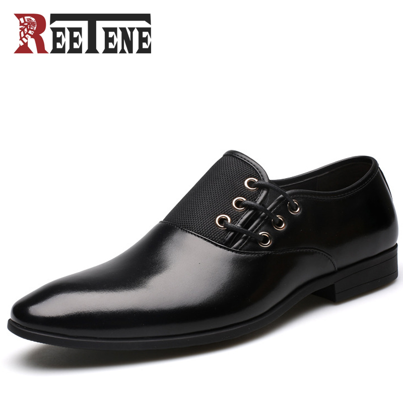 цена на Plus Size 38-47 Fashion Leather Men Oxford, Casual Simple Men Dress Shoes, High Quality Genuine Leather Oxford Shoes For Men