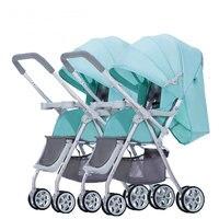 Близнецы коляски с крышкой дождя, можно объединить может отделить двойной сиденье коляски, надежная защита от повреждений близнецы коляска