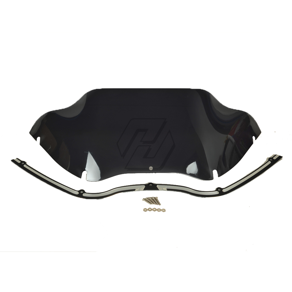 9 Windscreen + Windshield Trim case for Harley Touring Road Glide FLTR 1998-2013 9 windscreen windshield trim case for harley touring road glide fltr 1998 2013