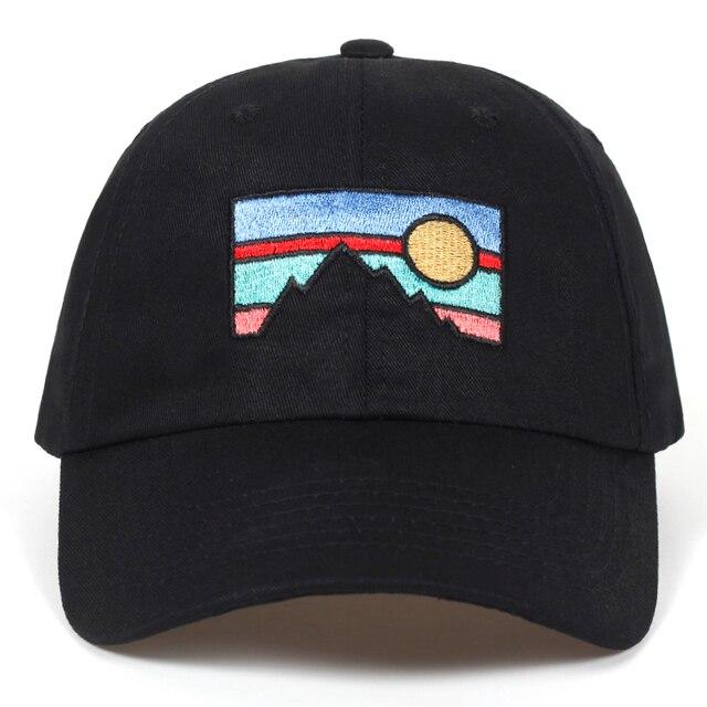 2018 nueva gorra de béisbol de los hombres atardecer sol bordado de algodón  sombrero de moda 30ca3bc1f8b