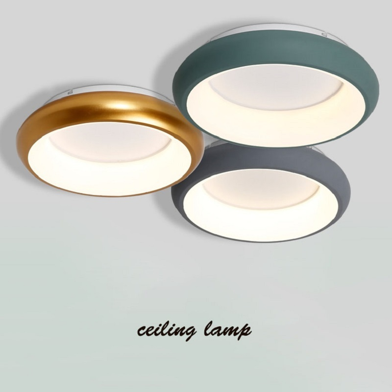 Green/Grey/White/Black acrylic modern led ceiling lights for living room bedroom lamparas de techo colgante Round ceiling lamp macaron ultra thin modern led ceiling lights pink yellow green body ceiling lamp for living room bedroom lamparas de techo