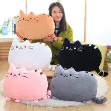 25cm לדחוף een קטיפה חתול צעצועים ממולא בעלי חיים & בפלאש צעצועים רך חתול כרית מוגלה חן ממולא חתול בובה לילדים ילדה מתנה זול צעצועים