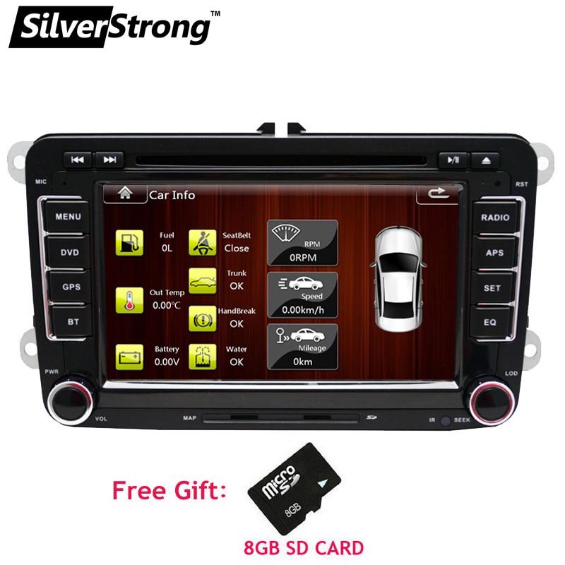 SilverStrong Car DVD for Volkswagen Passat B6 B7 golf5 golf6 Touran Jetta caddy Transporter T5 polo for skoda