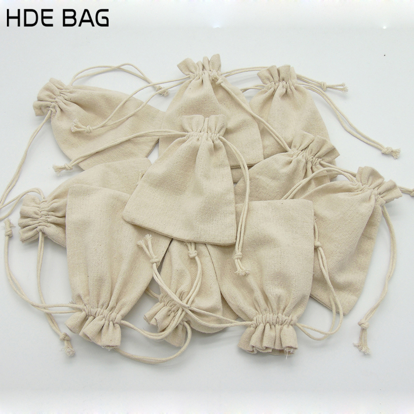 8*10cm 6A Canvas Drawstring Storage Bag Cotton Jewelry Organizer Packaging Bags Customized With Own Logo Gift Bag 100 Pcs/lot