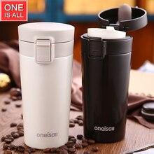 ONEISALL Edelstahl Coffe Becher Tee Tasse Wasser Erhitzen Flaschen Kaffeetassen Reise Tumbler Thermos Tumbler Vakuum Kaffee Becher 12 unzen