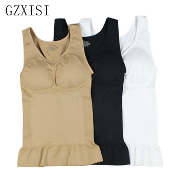 GZXISI Women Wireless Cami Tank Top Slim Body Shaper Bra Vest Camisole Removable Pads Slimming Shapewear Waist Trainer Corset 1