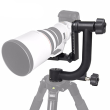 New Professional Aluminum Gimbal Tripod Head For Heavy Telephoto Lens DSLR Camera 360 Panoramic Swivel up to 22lbs