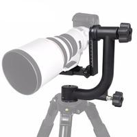 Professional Aluminum Gimbal Tripod Head For Heavy Telephoto Lens DSLR Camera 360 Panoramic Swivel Tripod Head up to 22lbs